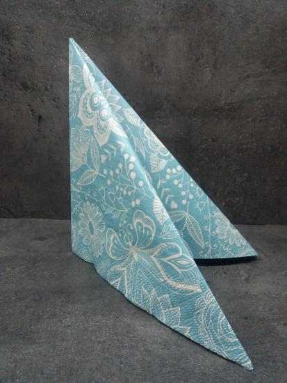 LACE ON BLUE BACKGROUND
