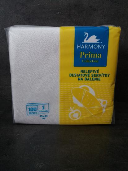 """Papírové ubrousky """"HARMONY"""" na balení 1-vrstvé 33x33 cm"""