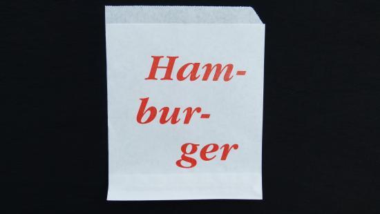 """Sáček papírový typ """"Hamburger"""" 12,5x15 cm"""