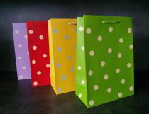 Papírová taška - puntíky P2